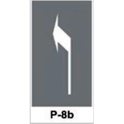 Szablon P8b P8d Strzałka w prawo / w lewo