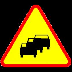Znak A-33 Zator Drogowy