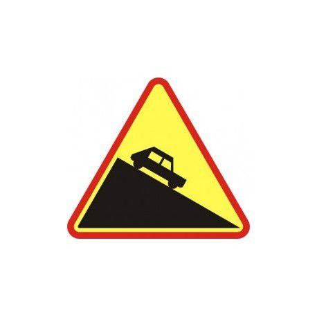 Znak A-22 Niebezpieczny Zjazd