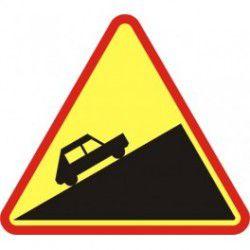 Znak A-23 Stromy Podjazd
