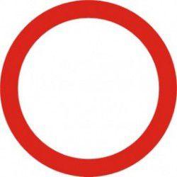 Znak B-1 Zakaz Ruchu w Obu Kierunkach