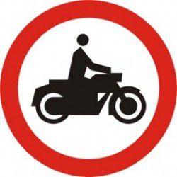Znak B-4 Zakaz Wjazu Motocykli