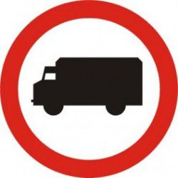 Znak B-5 Zakaz Wjazdu Pojazdów Ciężarowych