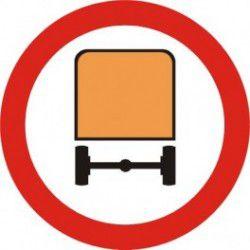 Znak B-13a Zakaz Wjazdu Pojazdów z Materiałami Niebezpiecznymi