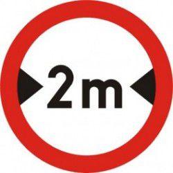 Znak B-15 Zakaz Wjazdu Pojazdów o Szerokości Ponad ...M