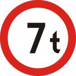 Znak B-17 Zakaz Wjazdu Pojazdów o Masie Całkowitej Ponad ...T