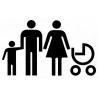 Szablon Malarski Rodzina z dziećmi