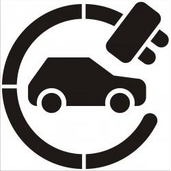 Szablon malarski Stacja ładowania samochodów elektrycznych