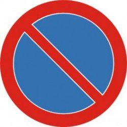 Znak B-35 Zakaz Postoju