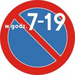 Znak B-35a Zakaz Postoju w Godzinach