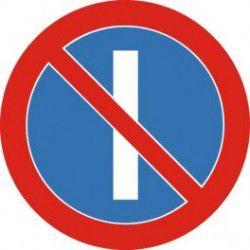 Znak B-37 Zakaz Postoju w Dni Nieparzyste