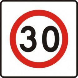 Znak B-43 Strefa Ograniczonej Prędkości