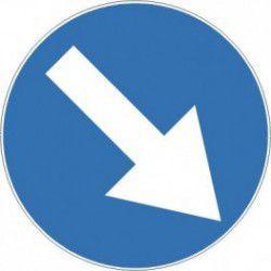 Znak C-9 Nakaz Jazdy z Prawej Strony Znaku
