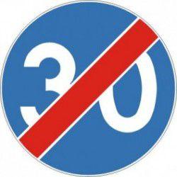 Znak C-15 Koniec Minimalnej Prędkości