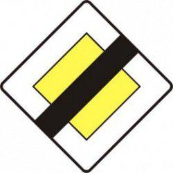Znak D-2 Koniec Drogi z Pierwszeństwem