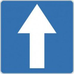 Znak D-3 Droga Jednokierunkowa