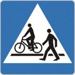 Znak D-6b Przejście dla Pieszych i Przejazd dla Rowerzystów