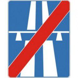 Znak D-10 Koniec Autostrady