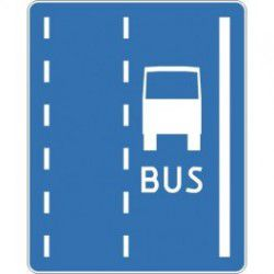 Znak D-12 Pas Ruchu dla Autobusów
