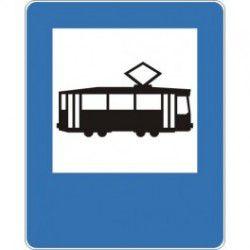 Znak D-17 Przystanek Tramwajowy