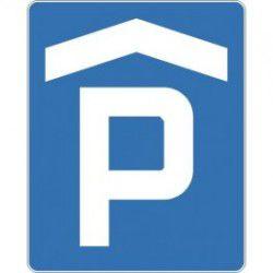Znak D-18b Parking Miejsce Zadaszone