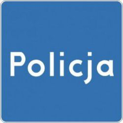 Znak D-21a Policja
