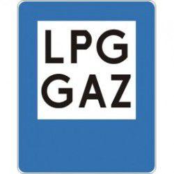 Znak D-23a Stacja Paliwowa Tylko z Gazem do Napędu Pojazdów