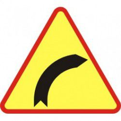 A-1 Znak Niebezpieczny zakręt w prawo