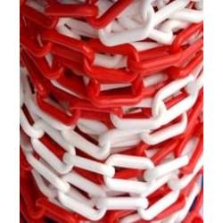 Łańcuch Plastikowy Biało-Czerwony 6mm