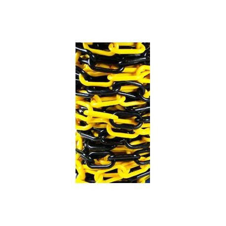 Łańcuch Plastikowy Żółto- Czarny 6mm