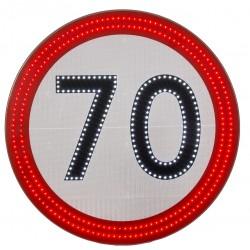 Znak Drogowy B33 Led Aktywny Świecący