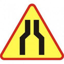 A12a Znak Zwężenie Jezdni Dwustronne