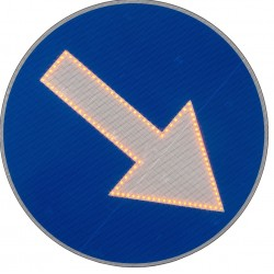 Znak Drogowy C9 fi800mm Led Aktywny Świecący