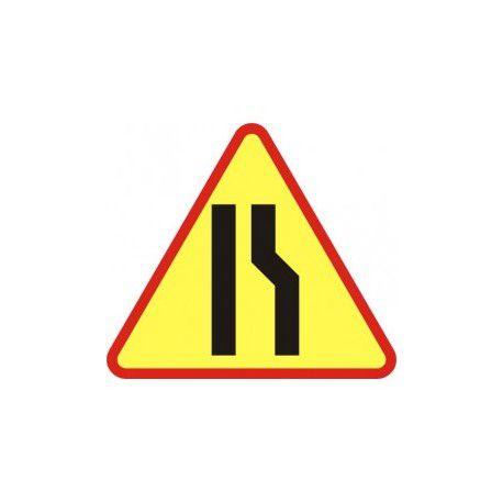 A12b Znak Zwężenie Jezdni Prawostronne