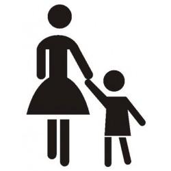 Szablon Matka z dzieckiem