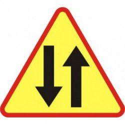 A-20 Znak Odcinek Jezdni o Ruchu Dwukierunkowym