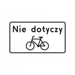 Tabliczka T22 Nie dotyczy rowerów