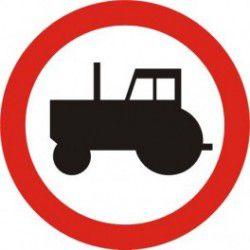 Znak B-6 Zakaz Wjazdu Ciągników Rolniczych