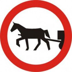 Znak B-8 Zakaz Wjazdu Pojazdów Zaprzęgowych
