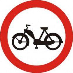 Znak B-10 Zakaz Wjazdu Motorowerów