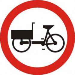 Znak B-11 Zakaz Wjazdu Wózków Rowerowych