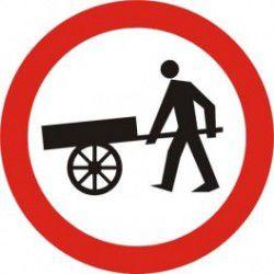 Znak B-12 Zakaz Wjazdu Wózków Ręcznych