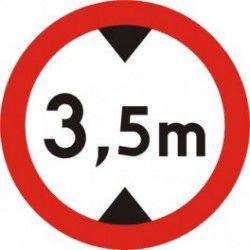 Znak B-16 Zakaz Wjazdu Pojazdów o Wysokości Ponad ...M