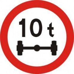 Znak B-19 Zakaz Wjazdu Pojazdów o Nacisku Osi Większym Niż ...T