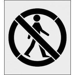 Szablon malarski Zakaz ruchu pieszych