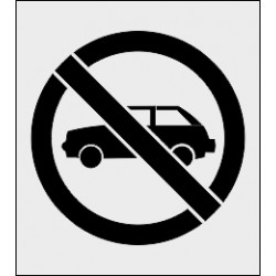 Szablon malarski Zakaz parkowania