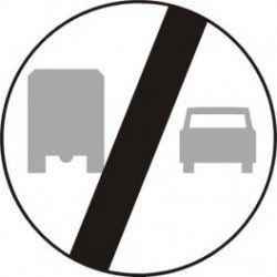 Znak B-28 Koniec Zakazu Wyprzedzania przez Samochody Ciężarowe