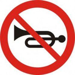 Znak B-29 Zakaz Używania Sygnałów Dźwiękowych