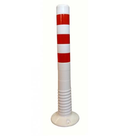 Słupek blokujący odblaskowy elastyczny biały 75cm