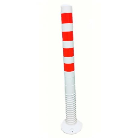 Słupek blokujący odblaskowy elastyczny biały 100 cm
